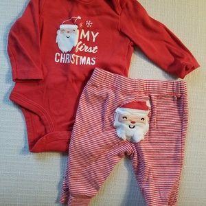 Santa First Christmas Onesie